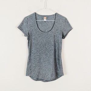 ♥️ Sale ♥️ Lucy • Scoop Neck Gray Athletic Tee